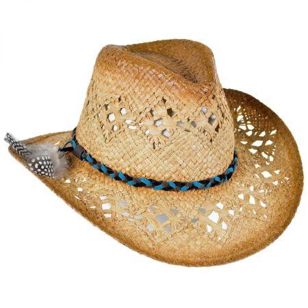 ale by Alessandra Coronado Raffia Straw Cowboy Hat