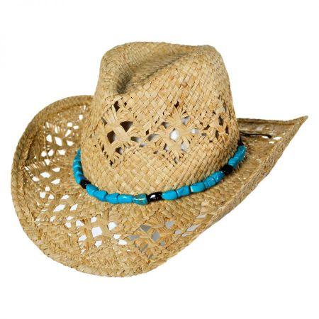 ale by Alessandra Vaquera Raffia Straw Western Hat