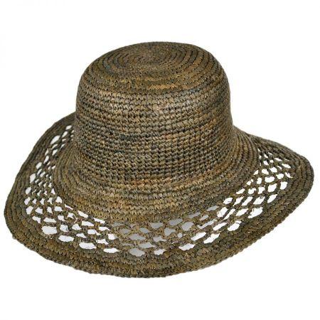 ale by Alessandra Lechuza Raffia Straw Floppy Hat