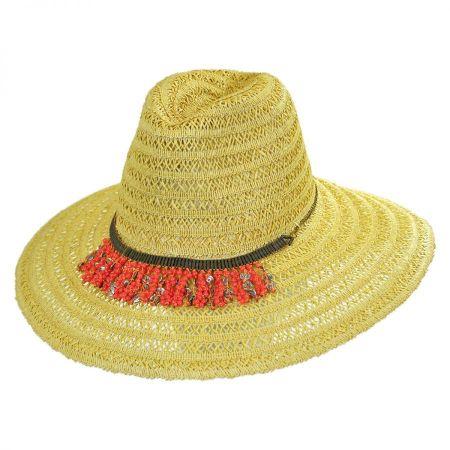 ale by Alessandra Garapoba Straw Fedora Hat