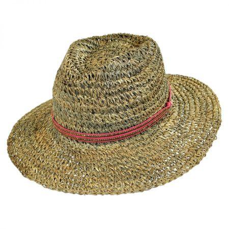 ale by Alessandra Trancoso Seagrass Straw Fedora Hat