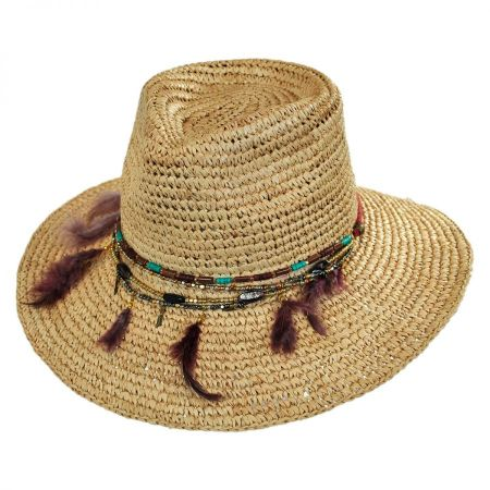 Jurere Raffia Straw Fedora Hat alternate view 1