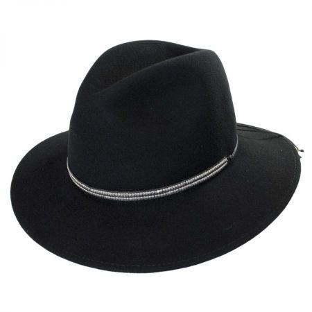 ale by Alessandra Metallica Wool Fedora Hat