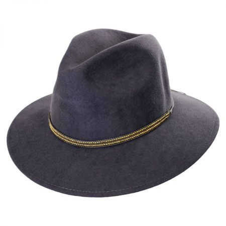 ale by Alessandra Metallica Wool Fedora Hat