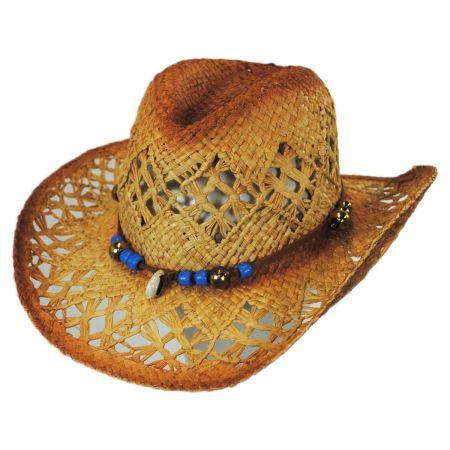 ale by Alessandra Waimea Raffia Straw Western Hat
