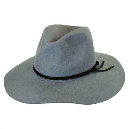 Nirvana Wool Felt Wide Brim Fedora Hat alternate view 1