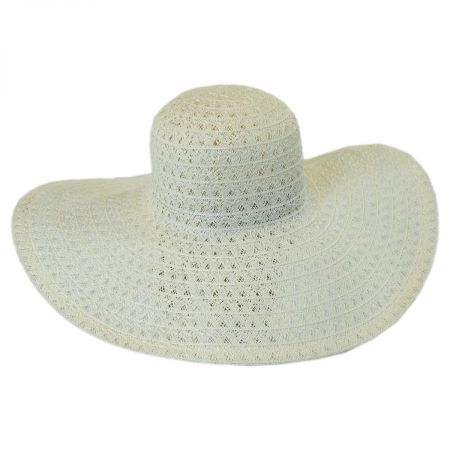 Chantilly Lace Toyo Straw Floppy Swinger Hat