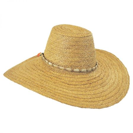 ale by Alessandra Palapa Raffia Straw Wide Brim Sun Hat