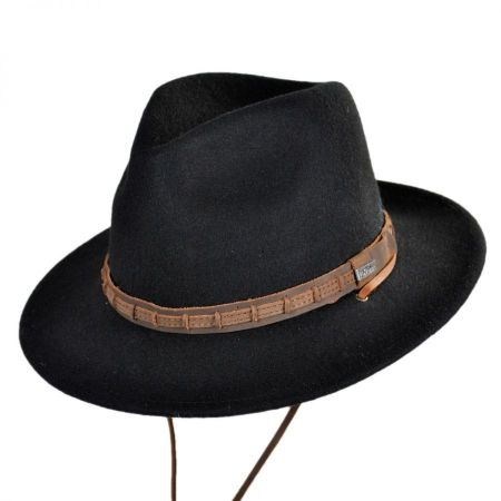 Leather Chinstrap Wool Felt Safari Hat