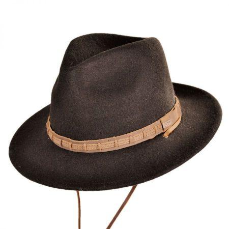 Leather Chinstrap Wool Felt Safari Hat