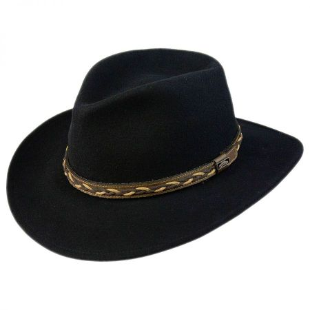 Leather Braid Band Wool Felt Aussie Hat alternate view 1