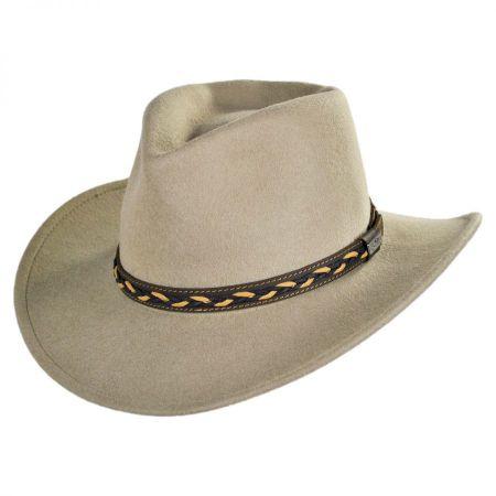 Conner Leather Braid Band Wool Felt Aussie Hat