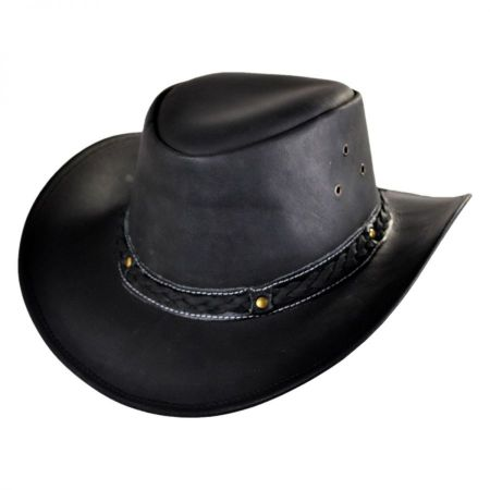 Conner - Oiled Leather Outback Hat