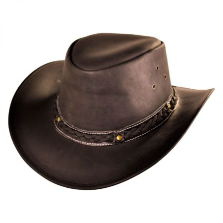 Conner Oiled Leather Outback Hat