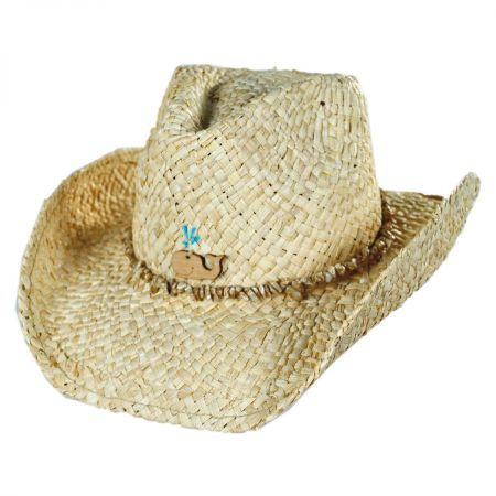 Conner Kids' Sea Creature Raffia Straw Western Hat