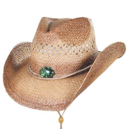 Conner Opalesque Conch Raffia Straw Western Hat