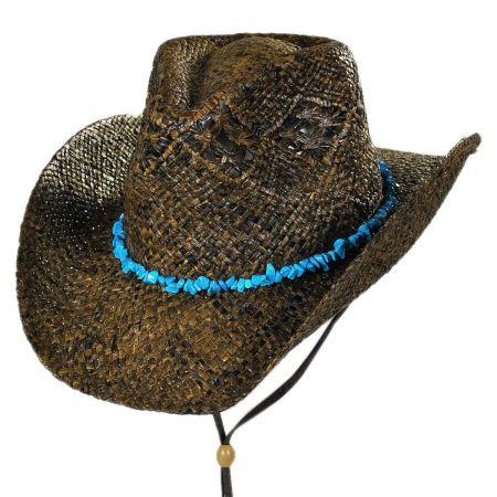 Conner Cascade Mountain Raffia Straw Western Hat