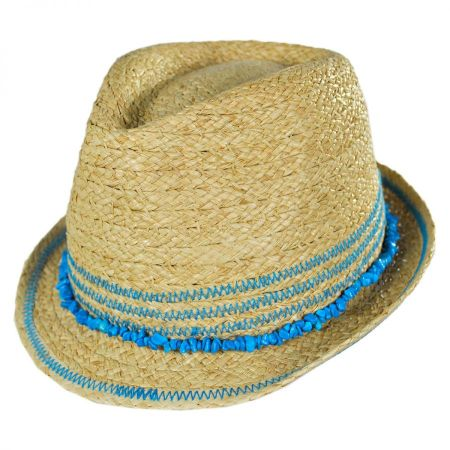 Conner Kids' Play Time Raffia Straw Fedora Hat