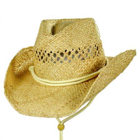 Kids' Coby Raffia Straw Western Hat