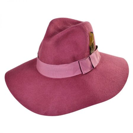Allison Wool Felt Floppy Fedora Hat
