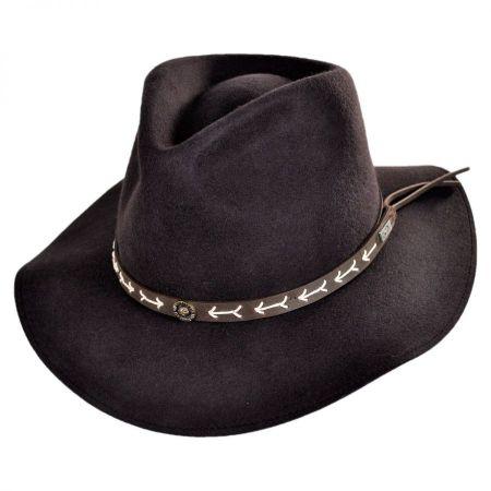 9ec365ada Mt. Warning Arrow Band Wool Felt Outback Hat
