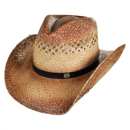 Route 66 Raffia Straw Cowboy Hat alternate view 1