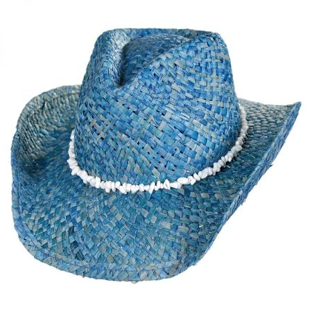 Conner Bronco Beach Raffia Straw Western Hat