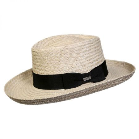 Deluxe Toyo Straw Gambler Hat alternate view 2