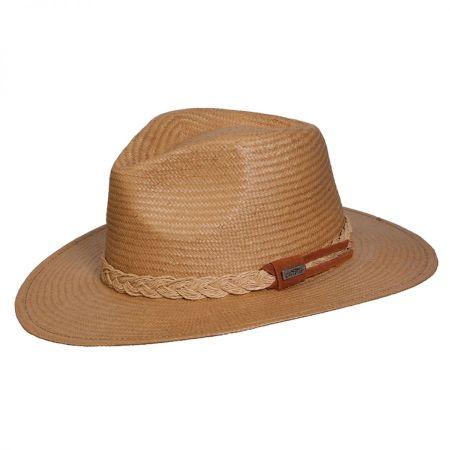 Deluxe Toyo Straw Safari Fedora Hat alternate view 2
