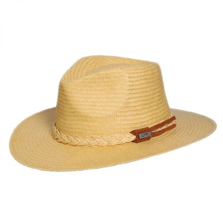 Deluxe Toyo Straw Safari Fedora Hat