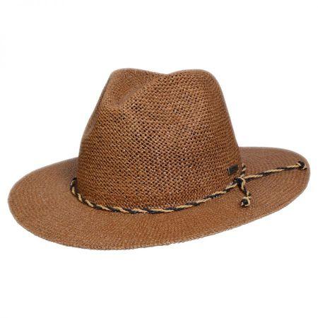 Conner Twisted Toyo Straw Safari Fedora Hat