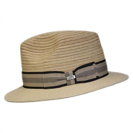 Conner Daniel Toyo Straw Braid Fedora Hat