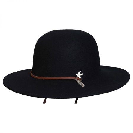 Bird and Feather Wool Felt Hat