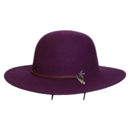 Bird and Feather Wool Felt Hat