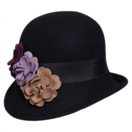 Country Garden Wool Felt Cloche Hat alternate view 1