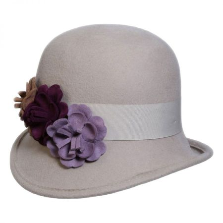 Country Garden Wool Felt Cloche Hat