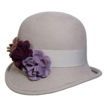 Conner Country Garden Wool Felt Cloche Hat