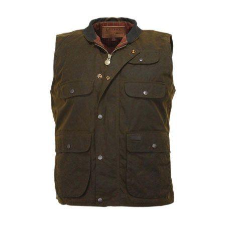 Outback Trading Company Overlander Oilskin Cotton Vest