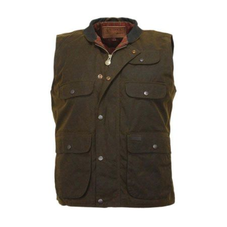 Overlander Oilskin Cotton Vest alternate view 2