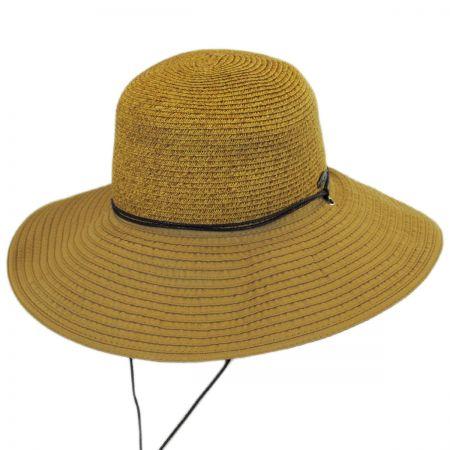 Panama Jack Ribbon and Toyo Straw Chincord Sun Hat
