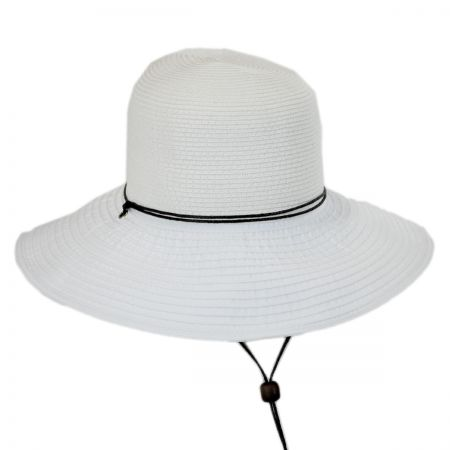 Panama Jack Ribbon and Toyo Straw Chincord Sun Hat