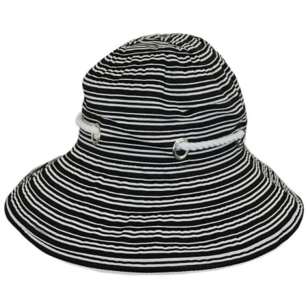 Panama Jack Nautical Rope Trim Bucket Hat