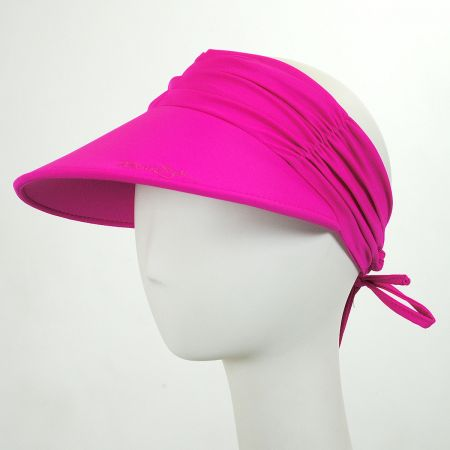 Ruched Fabric Pool Visor alternate view 1