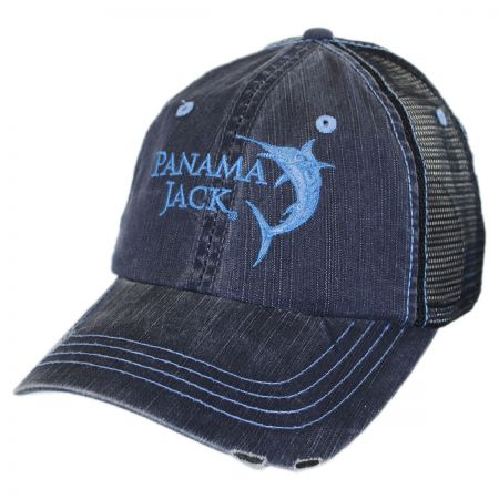 Panama Jack Marlin Mesh Trucker Adjustable Baseball Cap