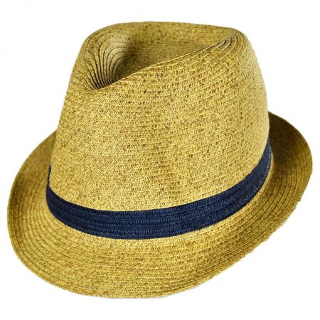 San Diego Hat Company Kids' Contrasting Band Toyo Straw Fedora Hat