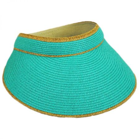 Toucan Collection Wide Brim Straw Visor