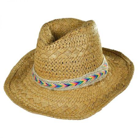 Kids' Rainbow Band Toyo Straw Cowboy Hat
