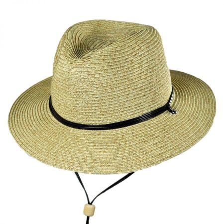 San Diego Hat Company Kids' Chincord Toyo Straw Fedora Hat
