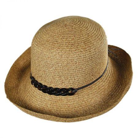 San Diego Hat Company Shell Chain Toyo Straw Kettle Brim Sun Hat