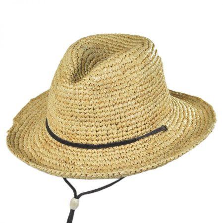 Toddlers' Chincord Raffia Straw Fedora Hat alternate view 1